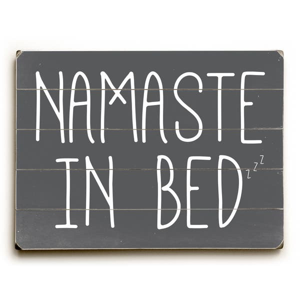 Namaste In Bed Solid Grey Wall Decor By Obc Overstock 16767551