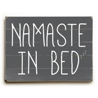 Namaste In Bed Solid - Grey Wall Decor by OBC