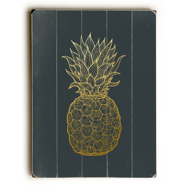 Golden Pine - Navy Wall Decor by OBC - multi