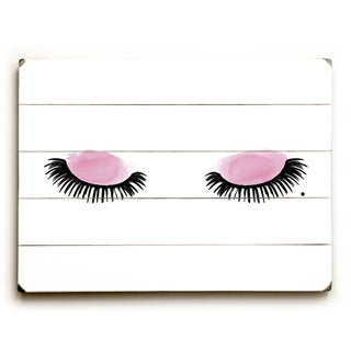 Eyelashes Watercolor - Pink Wall Decor by OBC - multi