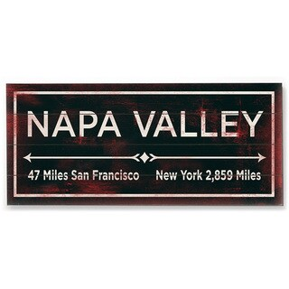 Napa Valley - Wood Wall Decor by FLAVIA - multi
