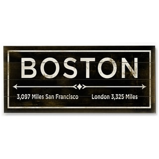 Boston - Wood Wall Decor by FLAVIA