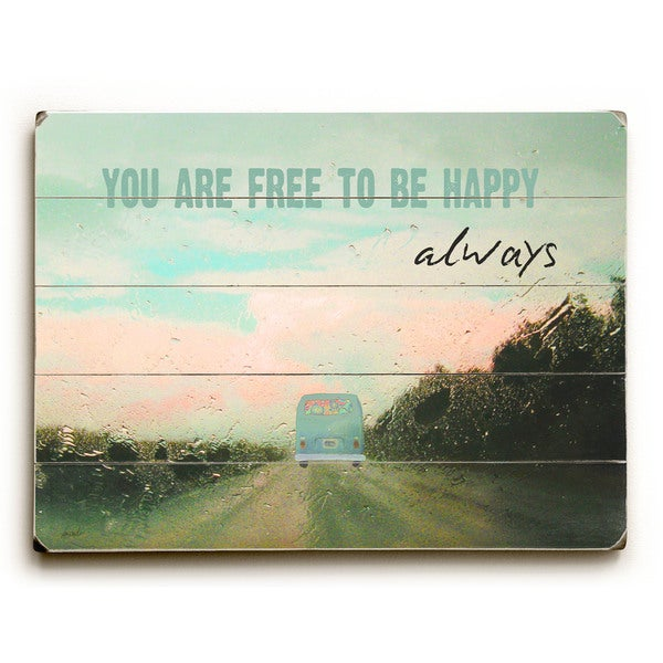 Free To Be Happy - Wall Decor by Lisa Weedn