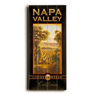 Napa Valley California - Wood Wall Decor by Cory Steffen - Planked Wood Wall Decor