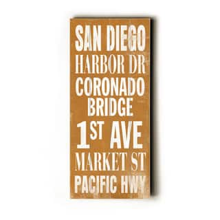 San Diego - Wood Wall Decor by Cory Steffen