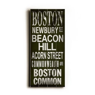 Boston - Wood Wall Decor by Cory Steffen - Black