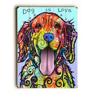 Dog is Love - Wall Decor by ArtLicensing - Dean Russo
