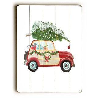 Christmas tree on car - Wall Decor by Jennifer Rizzo Design