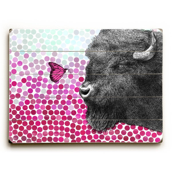 Bison and Butterfly - Wall Decor by Eric Fan - Multi-Color