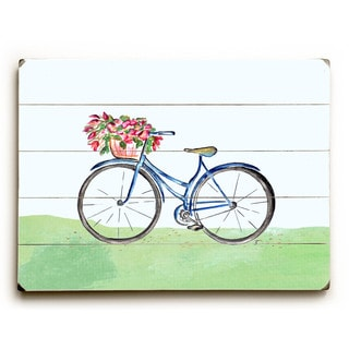 Spring Bicycle - Wood Wall Decor by Jennifer Rizzo