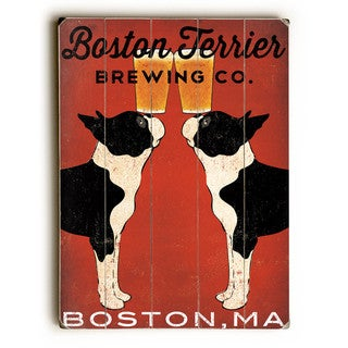 Boston Terrier Brewing Co - Wall Decor by Ryan Fowler