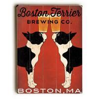Boston Terrier Brewing Co - Wall Decor by Ryan Fowler