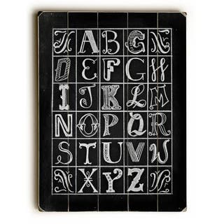 Typography Alphabet - Wall Decor by Robin Frost