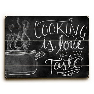 Cooking is Love - Wall Decor by Robin Frost - multi