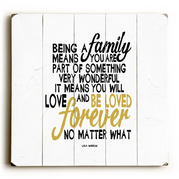 Shop Being Family - Wood Wall Decor by Lisa Weedn - multi - On Sale ...