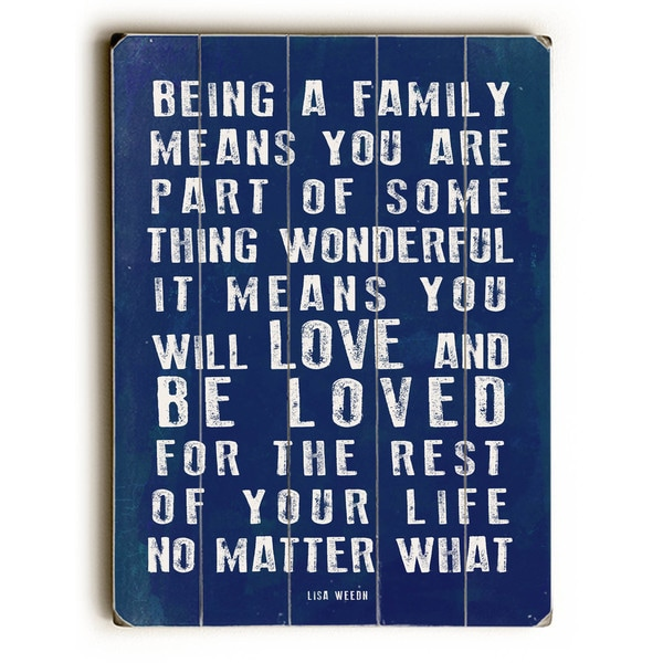 Being a Family Navy - Wall Decor by Lisa Weedn