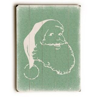 Santa - Green - Wall Decor by Cheryl Overton