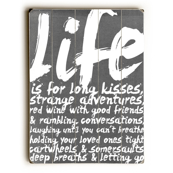 Life is for long kisses - Wall Decor by Cheryl Overton - multi