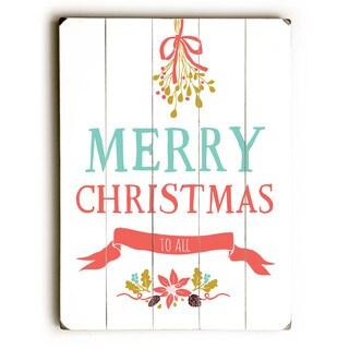 Merry Christmas - Wall Decor by Rebecca Peragine