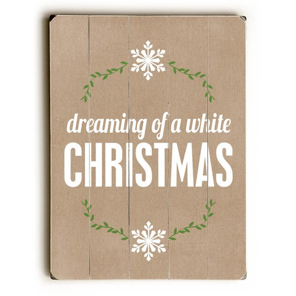 dreaming of a white Christmas - tan - Wall Decor by Cheryl Overton