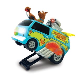 "NKOK 9""L Wheelie Mystery Machine w/ Scooby Doo Remote Control Toy"