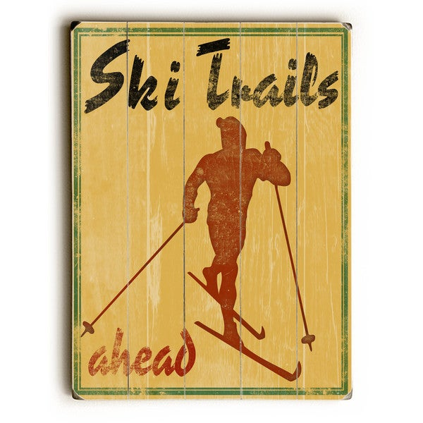 Ski Trails - Wall Decor by Kate Ward Thacker - multi