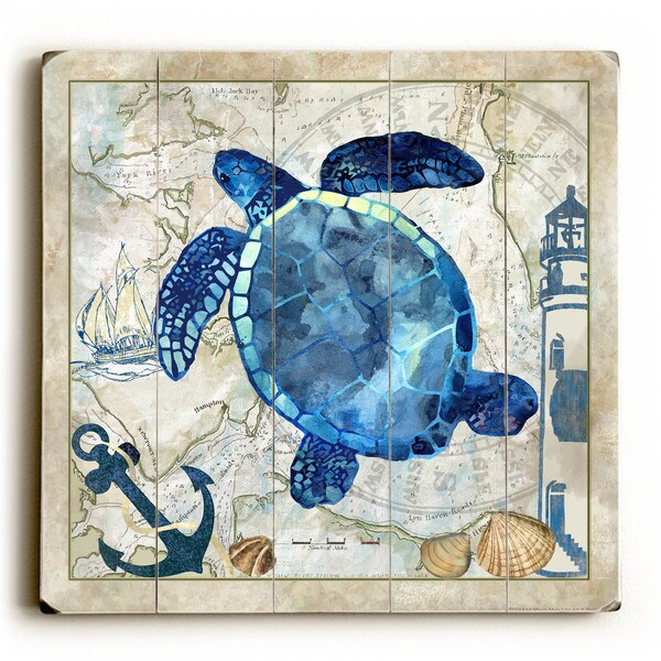 Sea Turtle - Wood Wall Decor by Jill Meyer