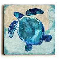 Sea Turtle - Wood Wall Decor by Jill Meyer - multi