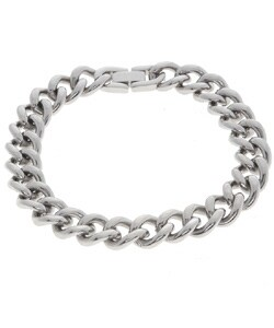 Stainless Steel 11 mm Curb Chain Bracelet