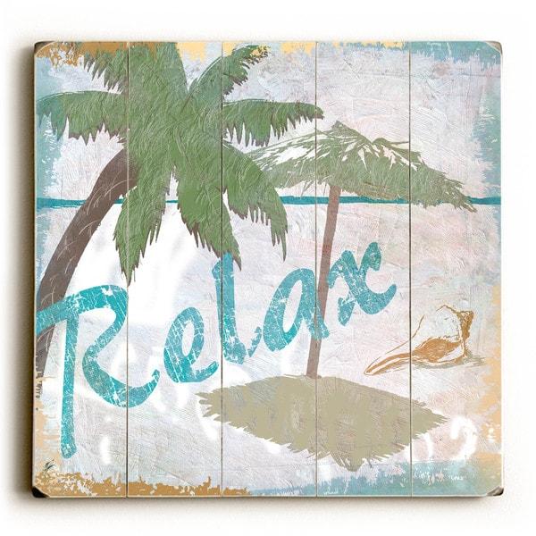 Relax - Wood Wall Decor by ArtLicensing - multi