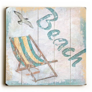 Beach - Wood Wall Decor by ArtLicensing