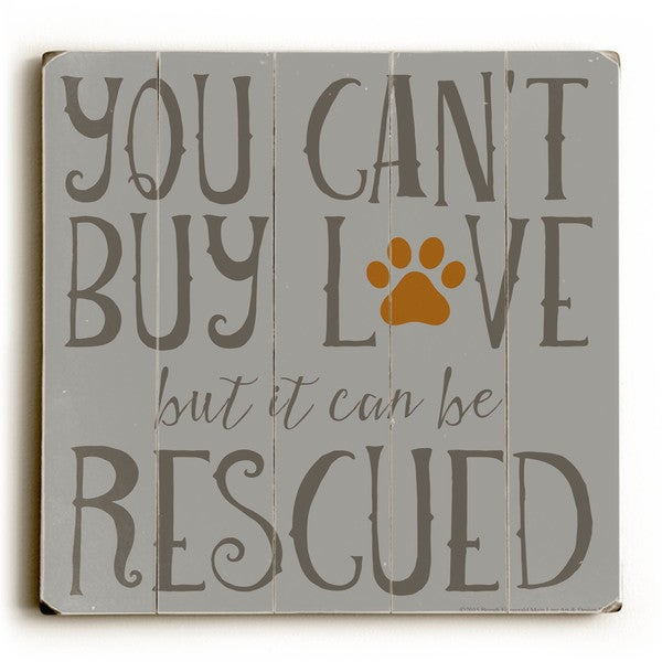 Can't Buy Love - Wood Wall Decor by Mainline Art Design
