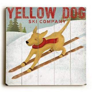 Yellow Dog Ski - Wood Wall Decor by Ryan Fowler