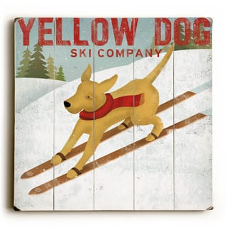 Yellow Dog Ski - Wood Wall Decor by Ryan Fowler - Planked Wood Wall Decor