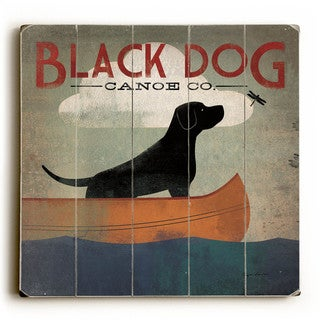 Black Dog Canoe co - Wood Wall Decor by Ryan Fowler - Planked Wood Wall Decor (2 options available)