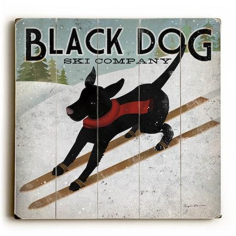 Black Dog Ski Company - Wood Wall Decor by Ryan Fowler