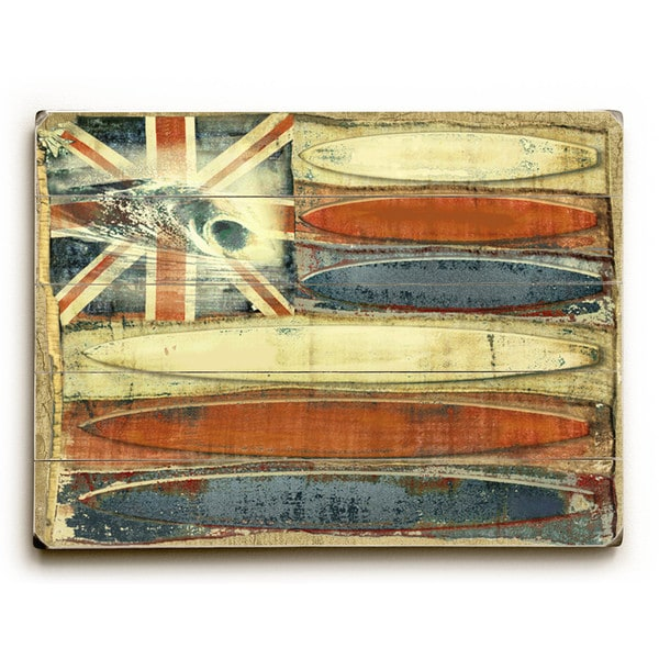 Hawaiian Surf Flag - Wall Decor by Lynne Ruttkay
