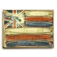 Hawaiian Surf Flag - Wall Decor by Lynne Ruttkay