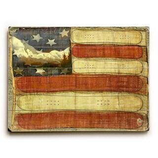 Americana Snowboard Flag - Wall Decor by Lynne Ruttkay - multi