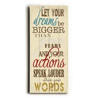 Dreams Bigger than Fears - Wood Wall Decor by Misty Diller - Planked Wood Wall Decor