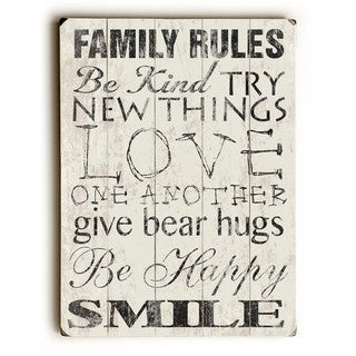 Family Rules - Be Kind - Wall Decor by Misty Diller