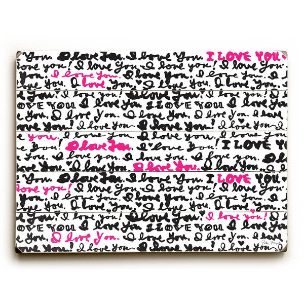 I love You - Wall Decor by Peter Horjus