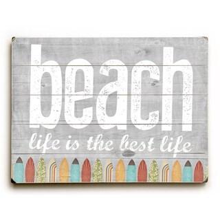 Beach Life - Wall Decor by Cheryl Overton - Planked Wood Wall Decor
