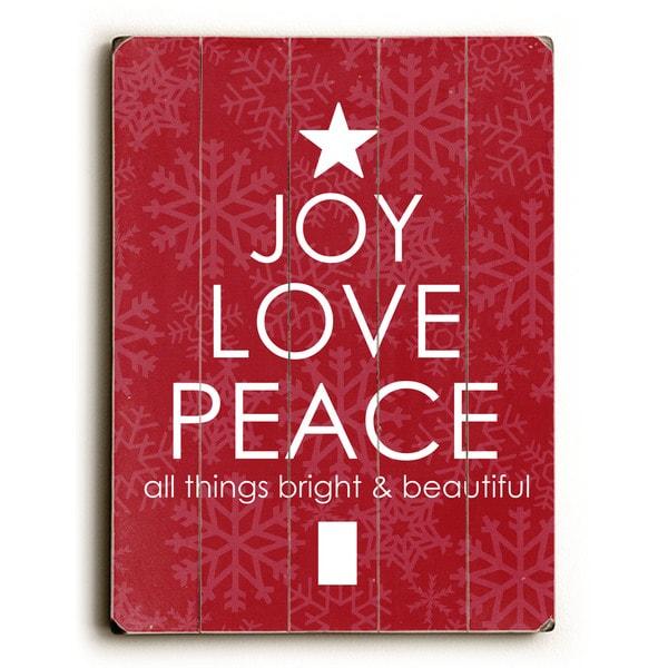 Joy Love Peace - Wall Decor by Cheryl Overton