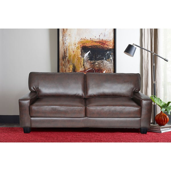 Serta Palisades Leather 78 Inch Sofa Free Shipping Today