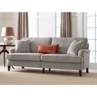 Serta Carlisle 78-inch Sofa with Pleated Arms|https://ak1.ostkcdn.com/images/products/16767821/P23076445.jpg?impolicy=medium