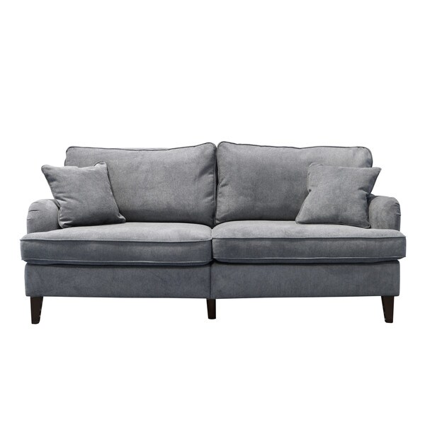 Serta Carlisle 78 Inch Sofa With Pleated Arms   Free Shipping Today    Overstock.com   23076445