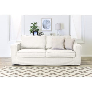 serta colton fabric 85inch sofa with slipcover