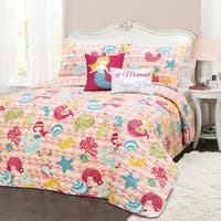 Lush Decor Mermaid Waves 5-piece Quilt Set