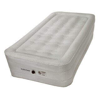 Insta-bed 14-inch Twin Airbed with NeverFLAT Fabric Technology and External AC Pump